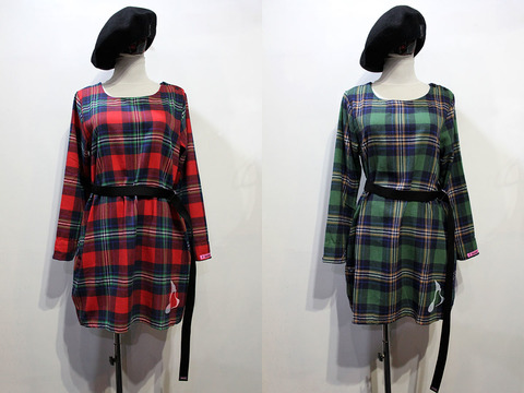 CHECK TUNIC ONEPIECE[Lady's]