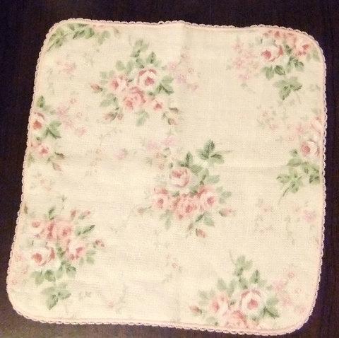 Towel Handkerchief (Pink Rose)ラスト1枚となりました