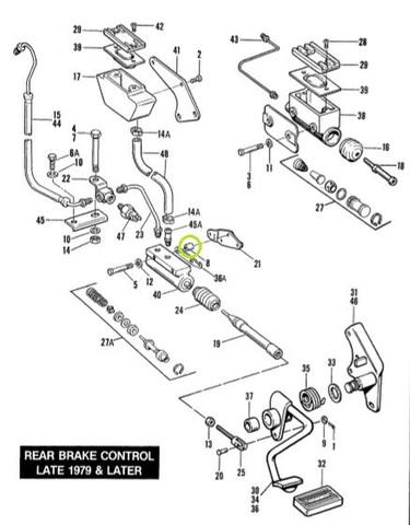 FX 1979-82 マスターシリンダー スペーサーセット 5890 23-0134