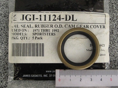 JAMES 1971-92 カムカバーオイルシール 11124 メタル