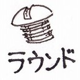 #10-24×1/2 ラウンドスクリュー ユニクロームメッキ