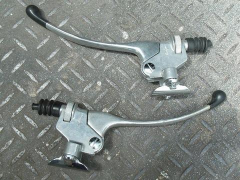 日本製 トマゼリタイプ クラッチ・ブレーキレバーセット 7/8インチハンドル用
