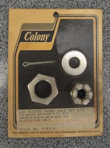 1946-71 ビッグツイン フロント アクスル ナット キット 8163-3