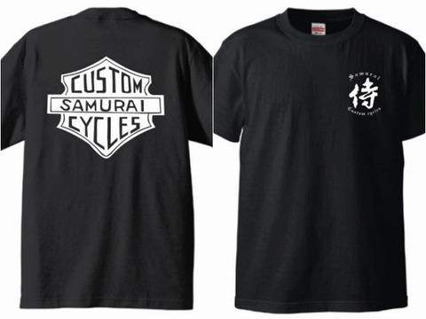 侍 Tシャツ 黒 L