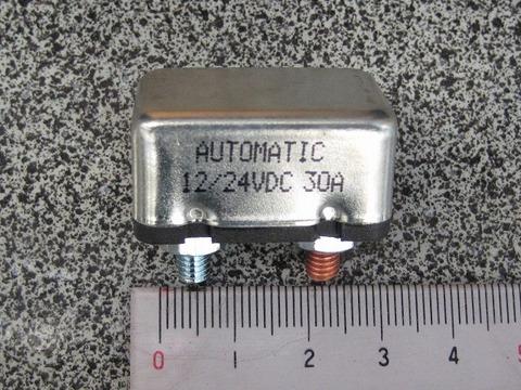 12V 30A サーキットブレーカー ショートスタッド ナット付き 74599-77