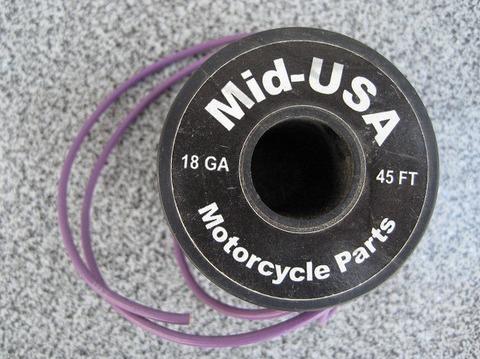 ビニール配線 こい紫  18ゲージ ウインカー左 1mあたり