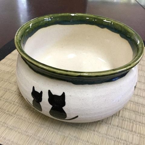 青峰堂オリジナル「猫の建水」