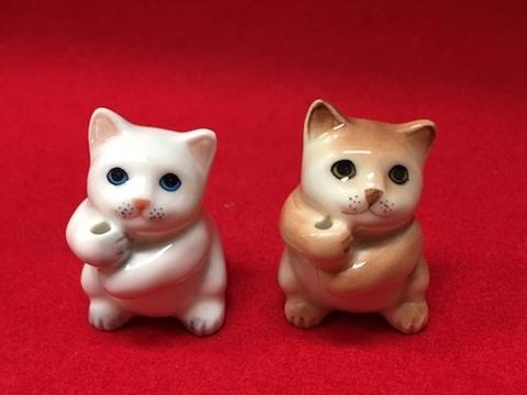 猫のお香立てぐんだん【白猫・茶猫】