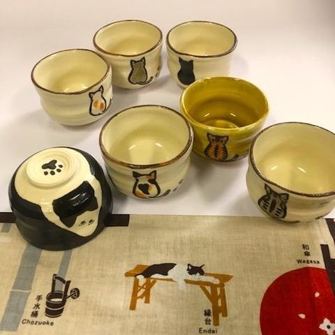 【ウチの猫モデル】青峰堂オリジナル「猫の抹茶碗」【国産】【ネコ・ねこ】