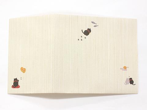 【黒猫のブックカバー】書包み(文庫本サイズ)単品