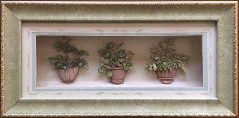 R65 鉢植えのグリーン シャドーボックス