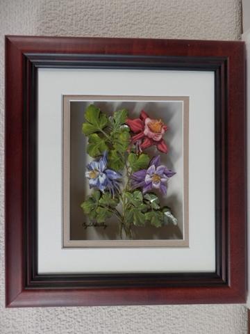 R31 オダマキの花 シャドーボックス
