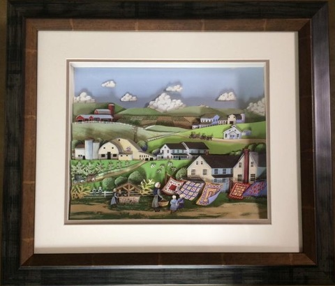 R110 風景(フォークアートⅠ) シャドーボックス