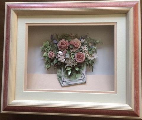 R62 花びんのバラ シャドーボックス