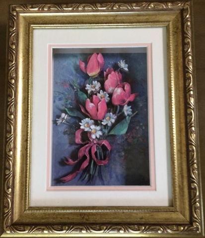 R75 花束のチューリップ シャドーボックス