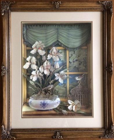 R69 白い花 シャドーボックス