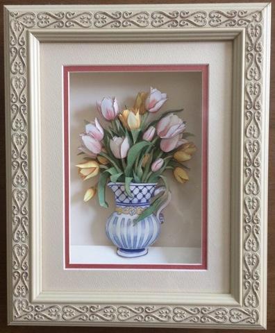 R41 花びんのチューリップ シャドーボックス