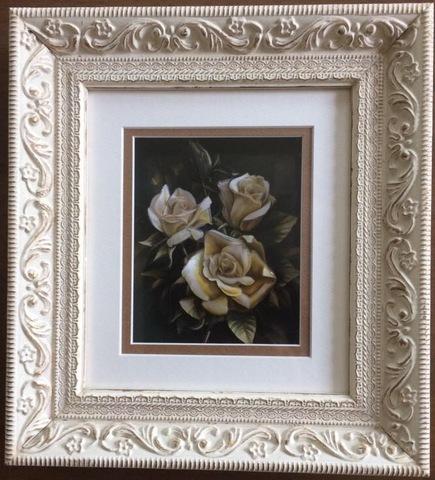 R42 ゴールドのバラ シャドーボックス