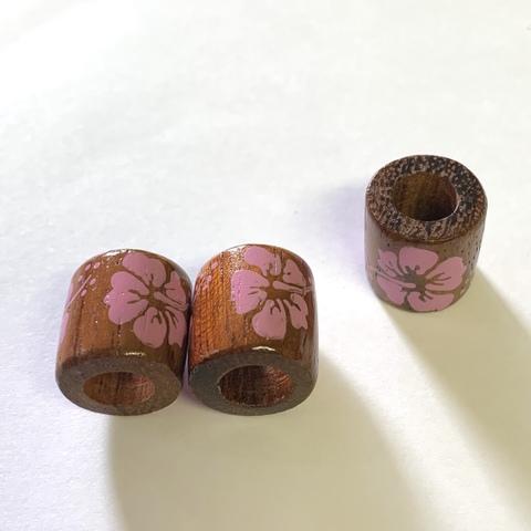 ウッド円筒型 ハイビ ピンク(3ヶ)