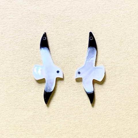 374 シロチョウ カモメ(左右ペア)