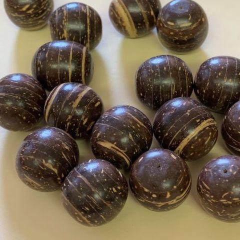 1312 ココシェル(茶)貼り合せ  17mm(10ヶ)