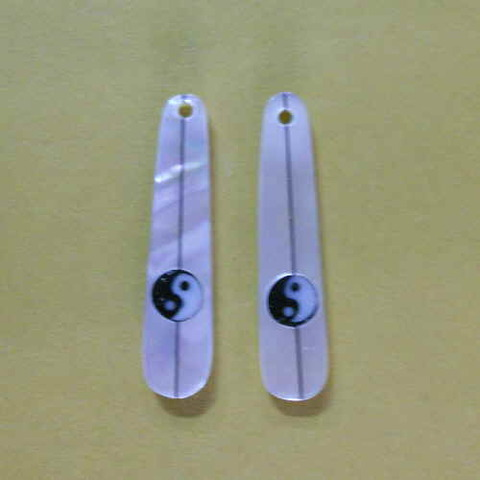 6514 シロチョウ しずく(ロング) インヤン(2ヶセット)
