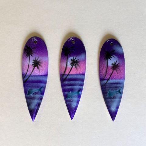1003W エアブラシサーフ イルカ(紫)(3ヶ)