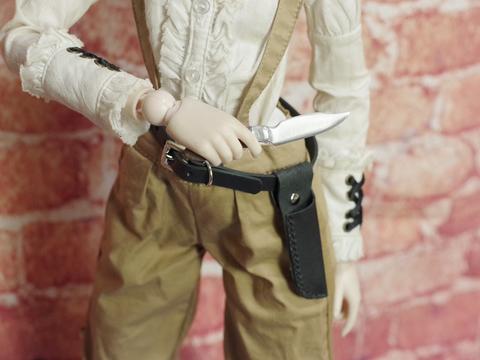 ナイフ+ベルト 短剣 1/3ドール用金属製武器266.5