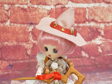 オビツ11用魔女の帽子(ピンク)