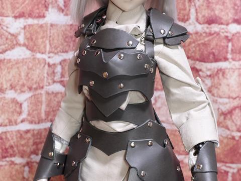 革の鎧(グレー) 1/3ドール用 (40~60cmドール向け)革製鎧a67sp