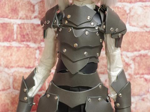革の鎧(グレー) 1/3ドール用 (40~60cmドール向け)革製鎧a67.5sp