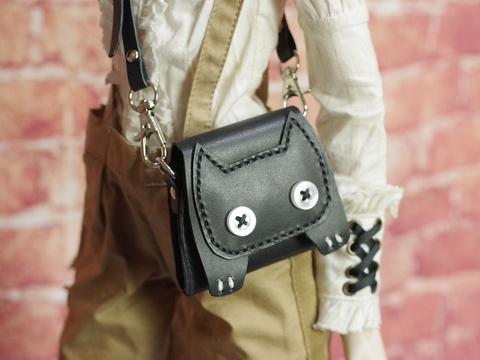 牛革製ネコの鞄 ショルダーバッグ 1/3ドール用品56