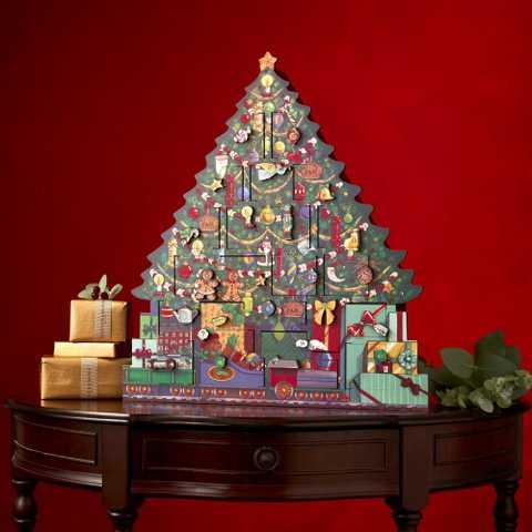 【9月5日~9月24日まで早期価格】2020年新作 F&M限定フォートナム&メイソンクリスマスツリー  木製 アドベントカレンダー