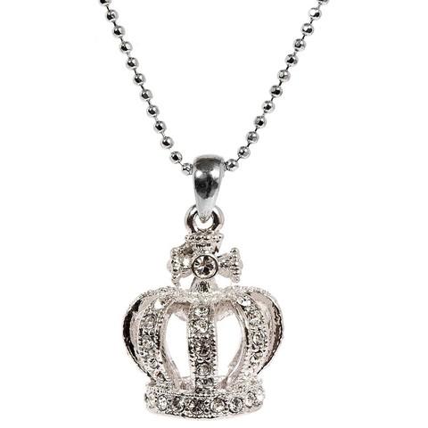 ロイヤルコレクション スワロフスキー王冠ネックレス  シルバー (バッキンガム宮殿オフィシャル)