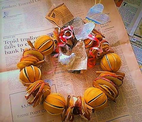 【11月6日からお届け開始】送料込み 英国製クリスマスリース フルーツサークル