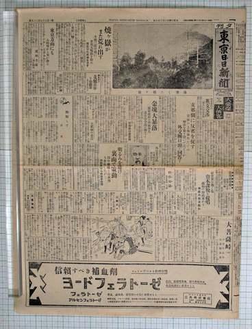 大正14年6月28日東京日日新聞 実物
