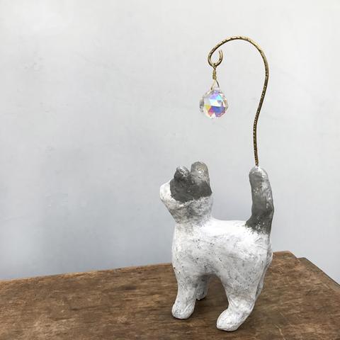 サンキャッチャー【いつも猫と・クレージュハチワレ】