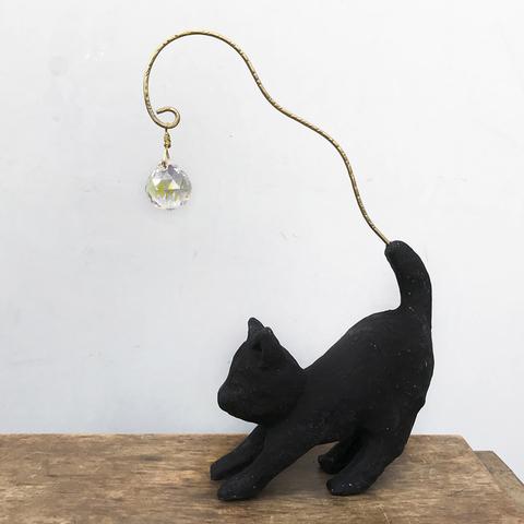 サンキャッチャー【いつも猫と・黒】