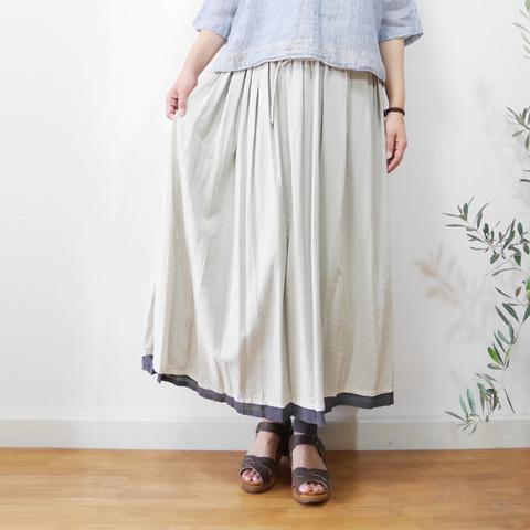 東炊きコットンローンレイヤードスカート 1613419 日本製 SORTE ソルテ