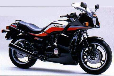 輸出用GPz750サイドカバーステッカー(シルバー/レッド)