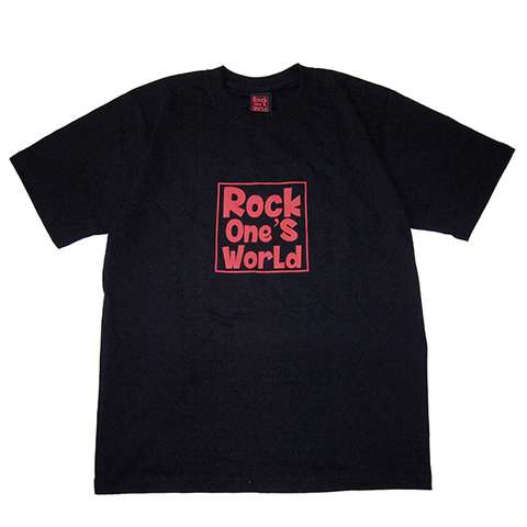 ROCK ONE'S WORLD ロックワンズワールド SQUARE LOGO TEE-BLACK-