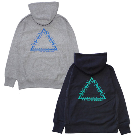 ROCK ONE'S WORLD ロックワンズワールド  TRIANGLE LOGO HOOD