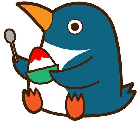 ★かき氷を食べるペンギン★BIR-029