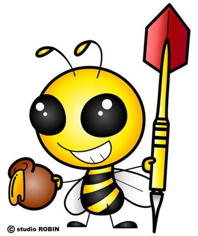 ★ダーツを持ったミツバチA★INS-005