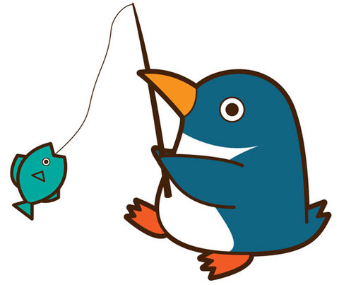 ★釣りをするペンギン★BIR-028