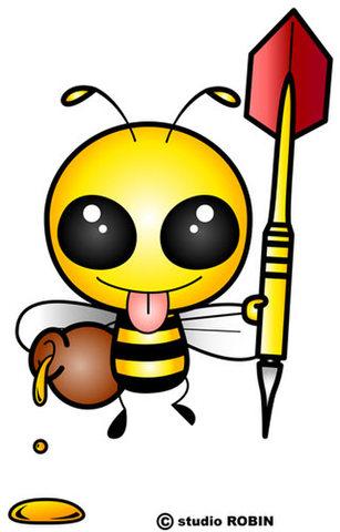 ★ダーツを持ったミツバチC★INS-007