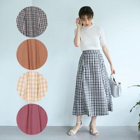 Aラインのフレアスカート