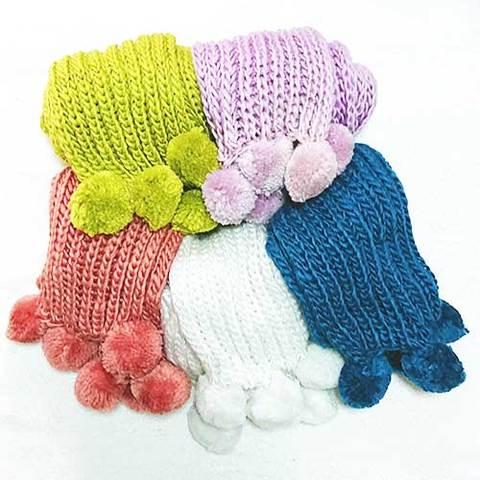 ざっくり編みのふんわりマフラー