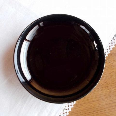 【漆器】シンプルで和モダンな黒色5寸木皿
