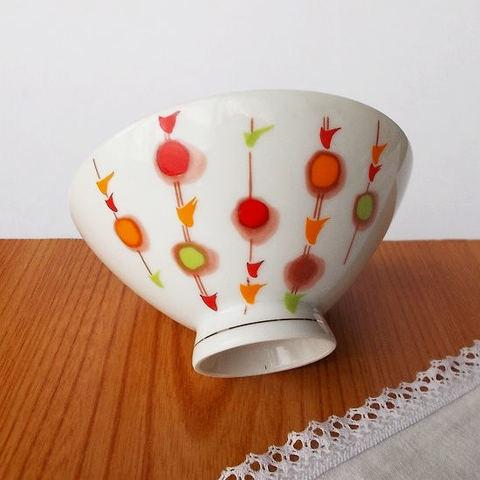 レトロなお花柄の可愛い子供茶碗koyo(小平)